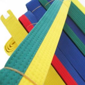 Judo gordel - Karate gordel Doorstikt twee kleurig