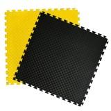 Puzzelmatten zwart - geel 100 x 100 x 2 cm