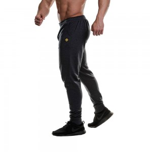 Fitted Jog Pants - Gold's Gym- Charcoal Marl
