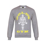 Muscle Joe Crew Neck Sweater - Gold's Gym- Grey Marl