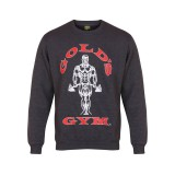 Muscle Joe Crew Neck Sweater - Gold's Gym- Charcoal Marl