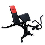Halterbank - Fitnessbank - Super Power bench Met biceps trainer