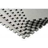Puzzelmatten grijs  - met afwerkingsrand 60x60x1cm