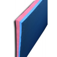 Puzzelmatten - Judomat rood / blauw  4 cm - Rijstro design