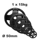 Olympische halterschijf - Rubber coated - 15 kg