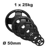 Olympische halterschijf - Rubber coated - 25 kg