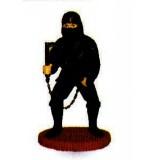Beeld : ninja met ketting
