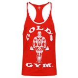 Tanktop/ T-shirt Gold's Gym: red/white