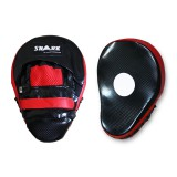 Coaching mitts - Focus mitt -  Hook & Jab -Ovaal PU (Zwart-Rood)