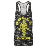 Tanktop/ T-shirt Gold's Gym: camo black