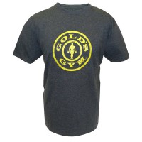 T-shirt Gold's Gym: Grijs - Stronger Than Excuses