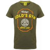 T-shirt Gold's Gym: Vintage style - Army marl