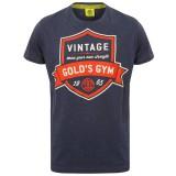 T-shirt Gold's Gym: Vintage style - Dark blue marl