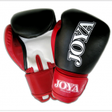 "JOYA ""THAI"" KICKBOXING GLOVE (LEATHER) BLK-RED"