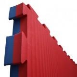 Puzzelmatten rood / blauw  4 cm