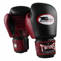 Twins - bokshandschoen - BGVL 3 Black/Wine Red