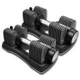 Verstelbare Halterset - EZ Dumbbell set - Topfit - 45.80 kg. - zonder onderstel/opbergrek